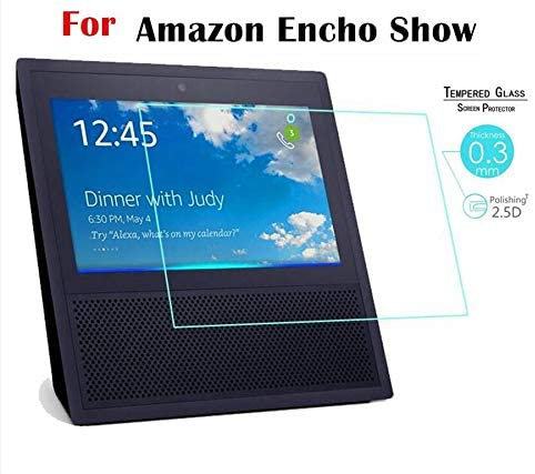 Tempered Glass Screen Protector for Amazon 2019 Echo Show 1 / Echo Show 5 / Echo Show 8 / EchoShow 2 10.0 inch Tablet 9H 2.5D Protective Film.(2 Pack) (Echo Show 5)