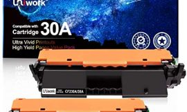 Uniwork Compatible Toner Cartridge Replacement for HP 30A CF230A 30X CF230X use with Laserjet Pro MFP M203dw M227fdw M227fdn M203d M203dn M227sdn M227 M203 Printer, 2 Black