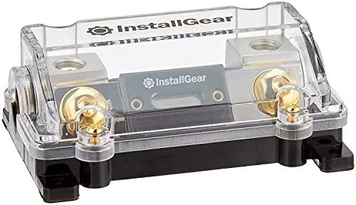 InstallGear 0/2/4 Gauge AWG in-Line ANL Fuse Holder with 150 Amp Fuse