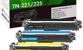 Victoner Compatible Toner Cartridge Replacement for Brother TN221 TN225 TN-221 TN-225 for MFC-9330CDW MFC-9130CW MFC-9340CDW HL-3140CW HL-3170CDW Printer Toner (Black Cyan Yellow Magenta,4-Pack)