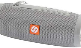 SilverOnyx Bluetooth Speakers Portable Wireless Waterproof Speaker with Lights, Loud Clear HD Stereo Sound, Rich Bass Subwoofer, Built-in Microphone, IPX-6 for Shower, Home, Travel – 157 Grey