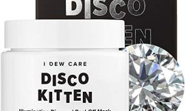 I DEW CARE Disco Kitten Glitter Peel-off Mask | Illuminating Diamond Face Mask with Oat Extract and Centella Asiatica | Korean Skincare, Facial Treatment, Cruelty-free, Gluten-free, Paraben-free