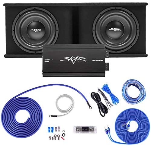 Skar Audio Dual 12″ Complete 2,400 Watt SDR Series Subwoofer Bass Package – Includes Loaded Enclosure with Amplifier