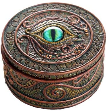 Pacific Giftware The Eye of The Dragon Mystical Trinket Box Fantasy Dragon Collection 3.75 Dia.