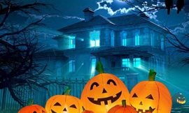 WASAKKY Halloween Inflatable Pumpkins LED Lights Decor – 7.5 Foot Long Holiday Decorations with Ground Pile and Wind Rope,Blow up Lighted Yard Decor for Lawn Home Party Outdoor Indoor