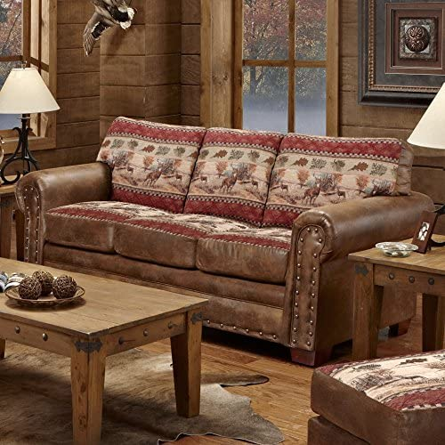 American Furniture Classics Deer Valley Lodge Sofa, Large, Tapestry