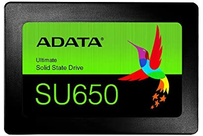 ADATA SU650 120GB 3D-NAND 2.5″ SATA III High Speed Read up to 520MB/s Internal SSD (ASU650SS-120GT-R)