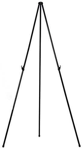 MasterVision Instant Display Easel Lightweight, Extends to 61.5″ Tall, Black Frame