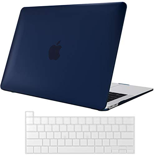 ProCase MacBook Pro 13 Case 2020 Release A2338 M1 A2289 A2251, Hard Case Shell Cover and Keyboard Skin Cover for MacBook Pro 13 Inch Model M1 A2338 A2289 A2251 -Darkblue