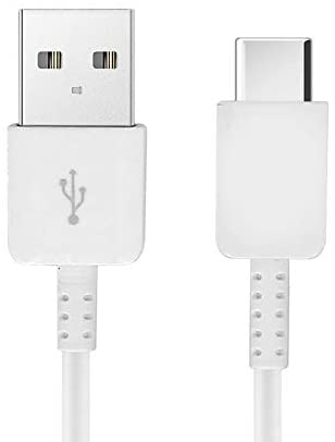 Authentic Short 8inch USB Type-C Cable Works with Google Pixel 4a 5G Also Fast Quick Charges Plus Data Transfer! (White)