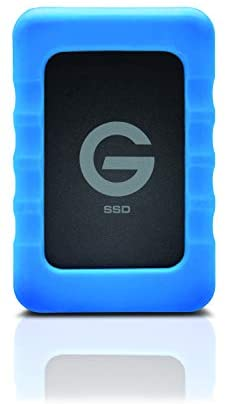 G-Technology 500GB G-DRIVE ev RaW SSD Portable External Storage with Removable Protective Rubber Bumper – USB 3.0 – 0G04755-1
