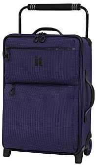 it luggage World's Lightest Los Angeles Softside Upright, Queen Purple, Carry-On 22-Inch