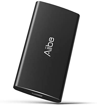 Aiibe External Portable SSD 500GB – Up to 500MB/s – USB-C, USB 3.1 External Solid State Drive 500GB 500G USB SSD Drive for PC Laptop, Mac, Xbox and PS4 – Black