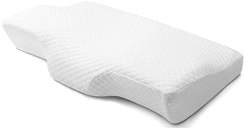 POLAR SLEEP Memory Foam Pillow Ergonomic Cervical Pillow for Neck Pain for Side Sleepers, Back and Stomach Sleepers, Orthopedic Sleeping Pillow with Free Pillowcase – Standard Size 60x35x11/6cm