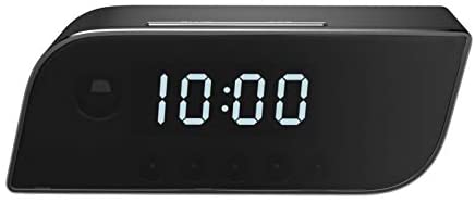 Pavlysh wi-fii camera alarm clock with night vision – motion detection nanny camera – loop recording security camera for home surveillance – video recorder real-time – hd 1080p
