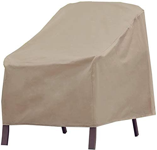 Modern Leisure 3134D Basics Outdoor Patio Chair Cover – Water Resistant (33 W x 34 D x 31 H inches), Khaki/Fossil