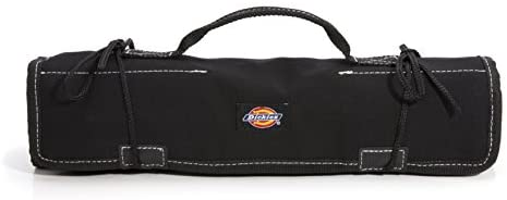 Dickies Large Wrench/Screwdriver Organizer Roll for Mechanics, 23 Tool Pockets, Durable Canvas Construction, 26 in. x 14.25 in. Unrolled, Black