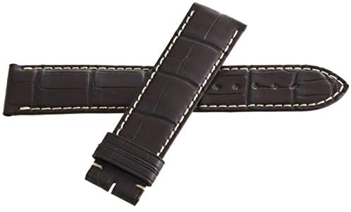 Genuine Longines 22mm x 20mm Brown Alligator Leather Watch Band Strap L682120162