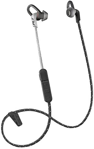 Plantronics BackBeat FIT 305 Sweatproof Sport Earbuds, Wireless Headphones, Black/Grey