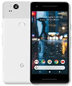 Pixel 2 Phone (2017) by Google, G011A 64GB 5in inch Factory Unlocked Android 4G/LTE Smartphone (Clearly White) – International Version (Renewed)