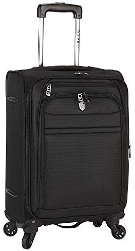 Travelers Club Business Class Expandable Spinner Luggage, Executive Black, 20 Inch