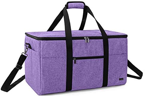 Luxja All-in One Bag for Cricut Die-Cut Machine and Cricut Easy Press (9 x 9 inches), Carrying Case for Cricut Machine and Supplies, Compatible with Cricut Explore Air and Maker, Purple