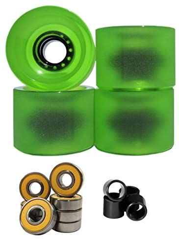 Lucid 70mm 83a Longboard Cruising Skate Wheel with Bearings and Spacers