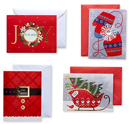 American Greetings Christmas Cards Assortment Boxed, Holiday Designs (20-Count)
