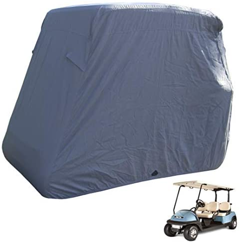 Deluxe 4 Seater Golf Cart Cover roof 80″ L (Grey, Taupe, or Green), Fits E Z GO, Club Car and Yamaha G Model – Fits GEM e2