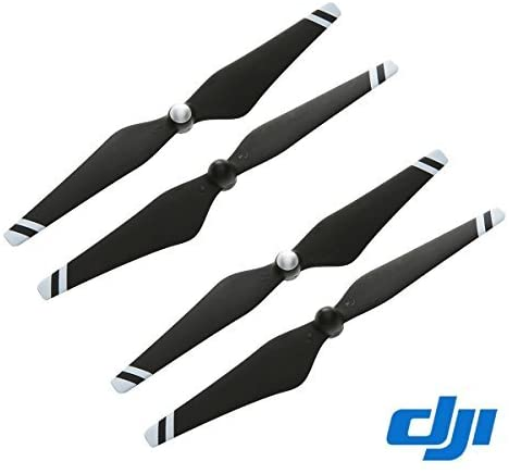 "DJI Original 9"" CW+CCW Props Carbon Fiber Reinforced 9450 Self-tightening Propeller 4 Pcs for Phantom 3 Professional / Advanced / Standard Quadcopter / E310 – Black + White Stripe"