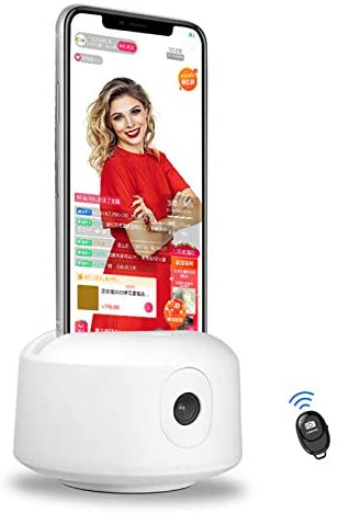 Face Auto Tracking Phone Holder with Bluetooth Remote, 360 Rotation Camera Mount Tracking Smart Shooting Selfie Stick Tripod for iPhone Smartphone Facebook YouTube TikTok Video Live Stream Vlogging