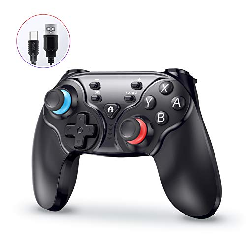 Wireless Pro Controller for Nintendo Switch/Switch Lite, Sopownic Rechargeable Gamecube Console for Android/PC with Enhanced Dual Vibration Motors, Remote Turbo Motion Control & 6-Axis Gyro