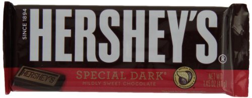 HERSHEY'S Special Dark Chocolate Candy Bars, 1.45 Ounce (Pack of 36)