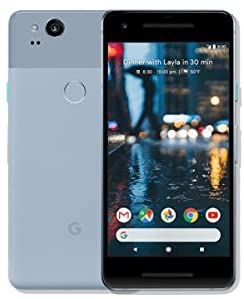 Pixel 2 Phone (2017) by Google, G011A 64GB 5in inch Factory Unlocked Android 4G/LTE Smartphone (Kinda Blue) – International Version (Renewed)