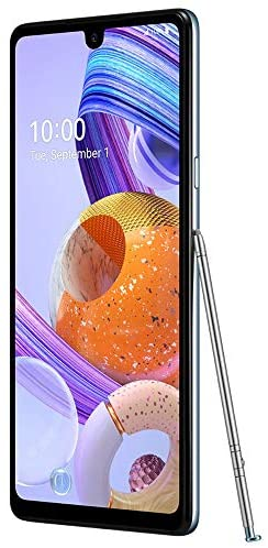 LG K71 Stylus (128GB, 4GB) 6.8″ FHD+, 48MP Rear + 32MP Selfie, Dual SIM GSM Unlocked 4G LTE (T-Mobile, AT&T, Metro) Stylo 6 International Model LM-Q730 (White, Tone Free Bluetooth Bundle)