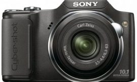 Sony Cyber-shot DSC-H20/B 10.1 MP Digital Camera with 10x Optical Zoom and Super Steady Shot Image Stabilization