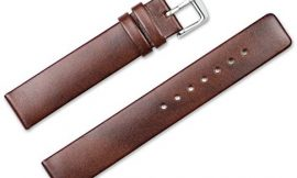 22mm Replacement Leather Watch Band – Square End Italian Leather (no Stitching) – Havana Watch Strap