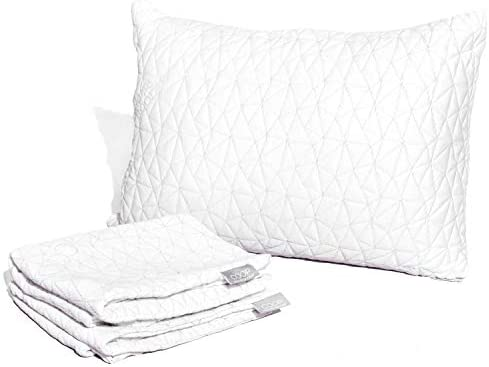 Coop Home Goods – Breathable Ultra Soft Noiseless Pillowcase – Patented Lulltra Fabric from Bamboo Derived Viscose Rayon and Polyester Blend – Oeko-Tex Certified – Queen Size 20″x 30″