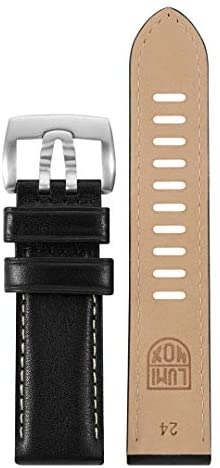 Luminox Men's 1900 Field Series Black Leather Strap Stainless Steel Buckle Watch Band