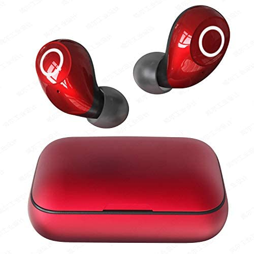 Wireless Earbuds, Torteco T08 Stylish Bluetooth 5.0 Headphones, in-Ear Stereo Wireless Earbuds with Touch Control & One-Step Pairing, IPX6 Water Proof for Running, Sports, Working, Red