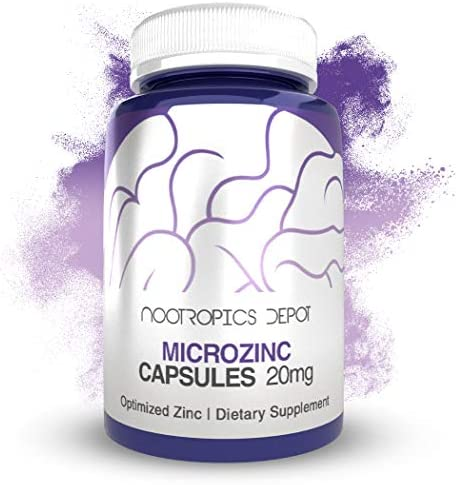 MicroZinc Capsules | 20mg | Optimized Zinc Supplement | 30 Count