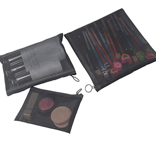 3PCS Small Zipper Bags for Purse, Mini Zippered Pouches for Makeup Cosmetic, Luggage Accessories for Travel
