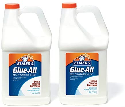 Elmer's Glue-All Multi-Purpose Liquid Glue, Extra Strong, 1 Gallon, 1 Count – Great For Making Slime