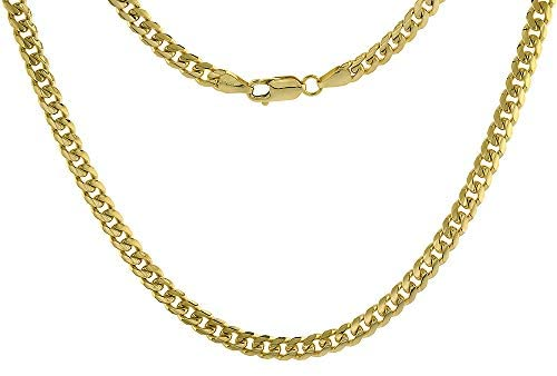 Solid 14k Gold 6mm Miami Cuban Link Chain Necklace for Men and Women 8-30 inch