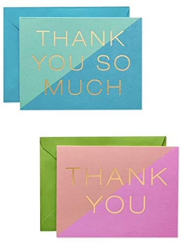 American Greetings Bulk Graduation Thank You Cards with Envelopes, Color Block (50-Count)