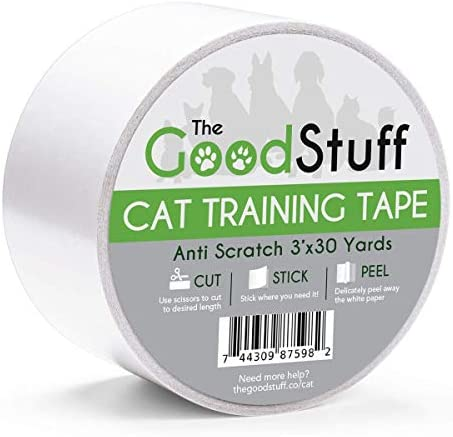 Cat Scratch Tape Furniture Protectors – Guard Your Couch, Doors and Furniture from Anti Scratches Deterrent Cat Training Tape – Great for Leather and Fabric Couches