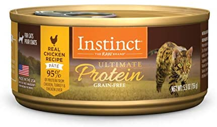 Instinct High Protein Cat Food, Ultimate Protein Grain Free Wet Cat Food Canned