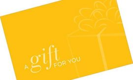 Gift Card Presenter (A Gift for You – Simple Yellow) 500 Pack