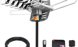 HDTV Digital Antenna -150 Miles Range w/ 360 Degree Rotation Wireless Remote – UHF/VHF/1080p/ 4K Ready(Without Pole)