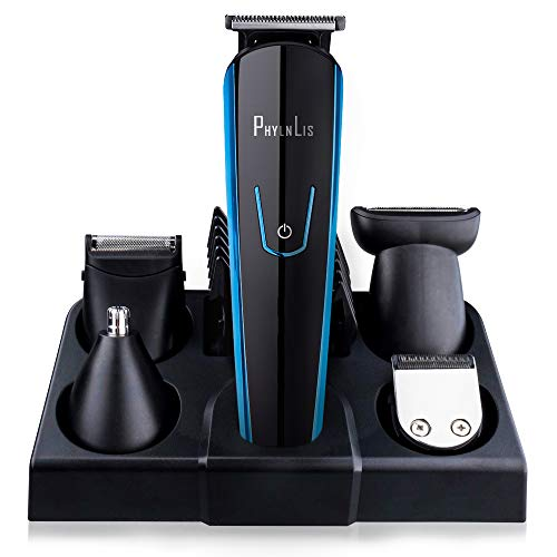 Hair Grooming Clipper Kit Cordless Beard Trimmer Nose/Ear Trimmer USB Rechargeable All-In-One Professional Series PhylnLis Multifunction 8188